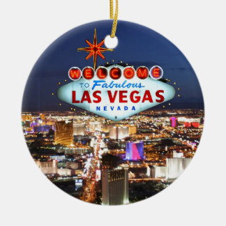 De Giften van Las Vegas Rond Keramisch Ornament