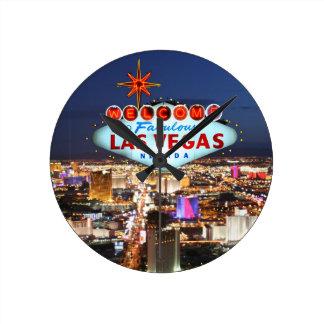 De Giften van Las Vegas Ronde Klok Medium