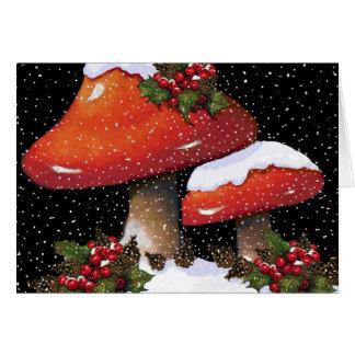 De Giftige paddestoelen van Kerstmis: Wenskaart