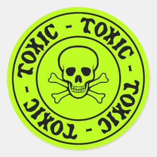 De giftige Schedel en Sticker van Gekruiste