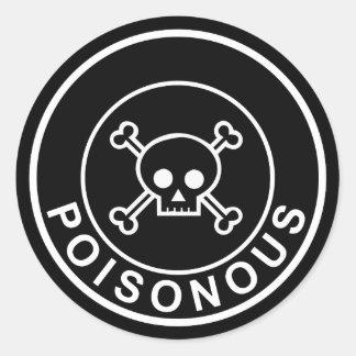 De giftige witte zwarte sticker van de