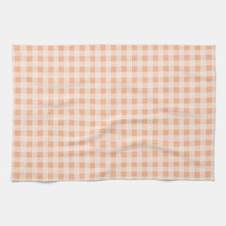 De Gingang van de Kleur van de abrikoos; Geruit Keuken Handdoek