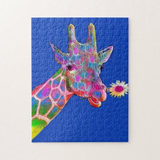 De Giraf van de bloem Puzzel