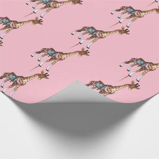 De Giraf van de Echo van de nauwe vallei - roze Cadeaupapier