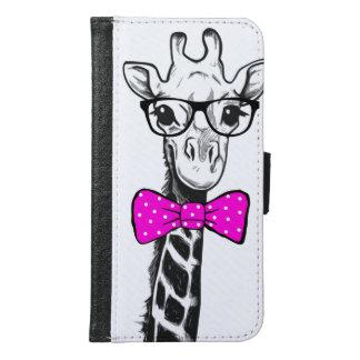 De Giraf van Hipster Samsung Galaxy S6 Portemonnee Hoesje