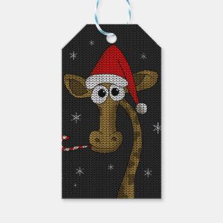 De Giraf van Kerstmis Cadeaulabel