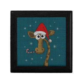 De Giraf van Kerstmis Decoratiedoosje