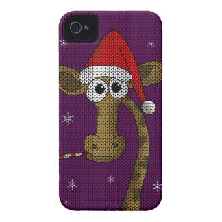 De Giraf van Kerstmis iPhone 4 Hoesje