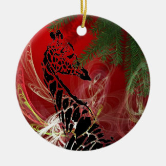 De Giraf ~ van Kerstmis om Ornament