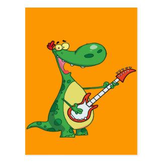 De Gitaar van de Spelen van de dinosaurus Briefkaart