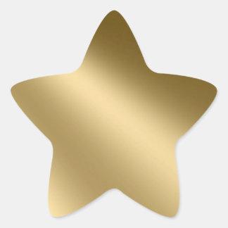 De glanzende Gouden Ster verzegelt Stickers