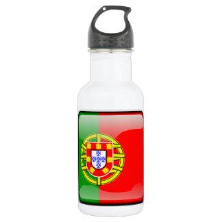 De glanzende vlag van Portugal Waterfles