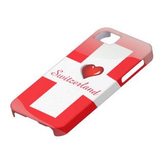 De glanzende vlag van Zwitserland Barely There iPhone 5 Hoesje