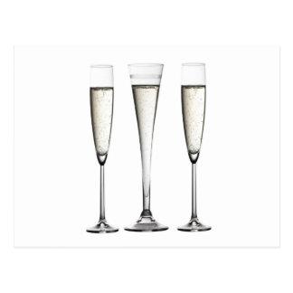 De Glazen van Champagne Briefkaart
