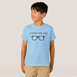 """De """"glazen zijn koele"""" korte sleeve tagless t shirt"""