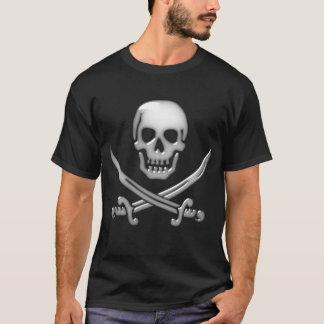 De glazige Gekruiste knekels van de Schedel & van T Shirt