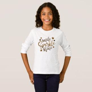 De glimlach, fonkeling, glanst | het inspirerend t shirt