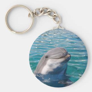De Glimlach van de dolfijn Basic Ronde Button Sleutelhanger