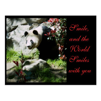 De Glimlach van de panda *customizable* Briefkaart