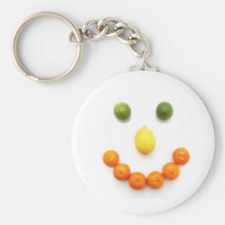 De Glimlach van Smiley van Citrusvruchten Sleutelhanger
