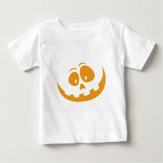 De glimlachende Pompoen van Halloween van de Baby T Shirts