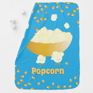 De glimlachende Popcorn en werpt de Deken van het Inbakerdoek