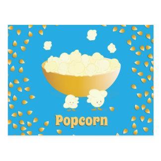 De glimlachende Popcorn en werpt het Briefkaart