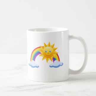 De glimlachende Regenboog van de Zonneschijn Koffiemok