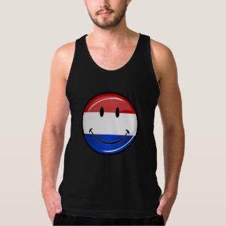 De glimlachende Vlag van Holland Nederland T Shirt