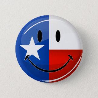 De glimlachende Vlag van Texas Ronde Button 5,7 Cm