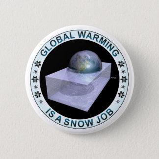 De globale Baan van de Sneeuw Ronde Button 5,7 Cm
