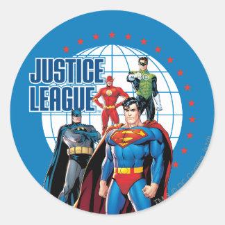 De Globale Helden van de Liga van de Ronde Sticker
