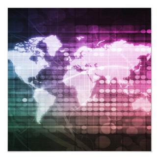 De globale Verbinding van het Netwerk en Kaart