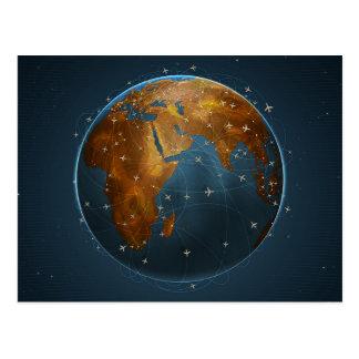 De globale Vertegenwoordiging van Luchtvaartlijnen Briefkaart