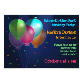 De Gloed van ballons in de Donkere Uitnodigingen