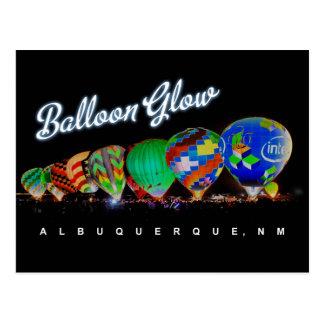 De Gloed van de Ballon van de Hete Lucht van Briefkaart