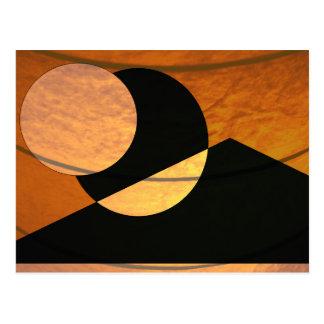 De Gloed van planeten, Zwarte en Koper, Grafisch Briefkaart