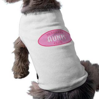 De gloednieuwe (Roze) Club van Tantes Mouwloos Hondenshirt