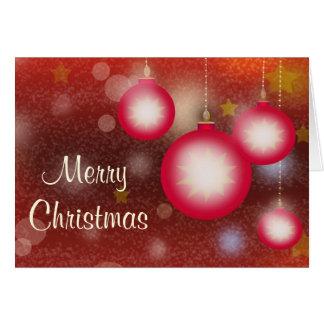 De gloeiende Hangende Ornamenten van Kerstmis Kaart