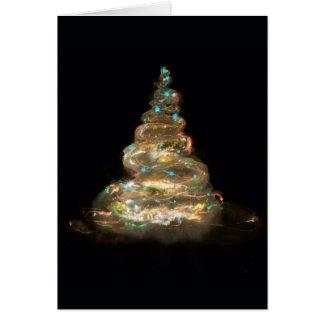 de gloeiende kaart van de Kerstmisboom