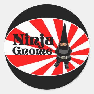 De Gnoom van Ninja Ronde Sticker
