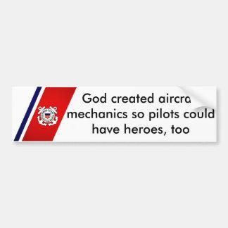 De god Creëere Werktuigkundigen van het Vliegtuig Bumpersticker