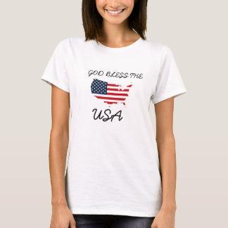 De god het Rode Witte Blauwe Amerika Overhemd T Shirt