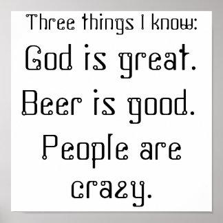 De god is groot., is het Bier goed., zijn de Mense Print
