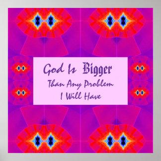 De god is Groter dan Om het even welk Probleem dat Poster