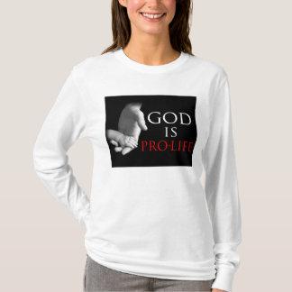 De god is het pro-Leven T Shirt