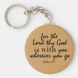 De god is met u het Vers van de Bijbel Sleutelhanger