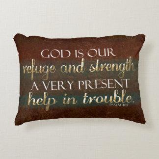 De god is ons Bruin Vers van de Bijbel van het Decoratief Kussen