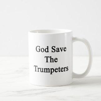 De god redt de Trompetters Koffiemok