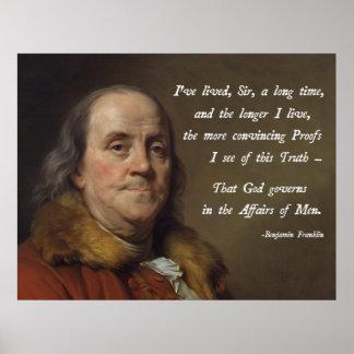 De God van Benjamin Franklin Poster